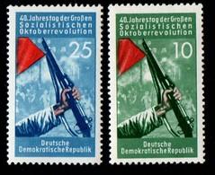 East Germany/DDR.  1957 The 40th Anniversary Of The October Revolution. E340-341. MNH - [6] Repubblica Democratica