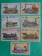 VIETNAM 1985 : Y &T N° 630 à 636 OB - 150e ANNIV. DES CHEMINS DE FER ALLEMAND - Vietnam