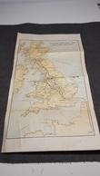 ANTIQUE ENGLAND - LONDON MIDLAND AND SCOTTISH RAILWAY MAP BROCHURE FRAGMENT 1930'S - Cartes