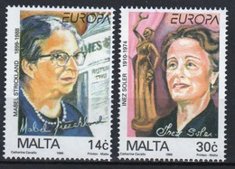 Malta 1996 Set Of Stamps To Celebrate Famous Women. - Malta
