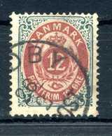 1875-1904 DANIMARCA 12o. USATO - Usati