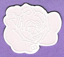 CARTE ROSE FORME DE FLEUR, SIGLEE - Perfume Cards