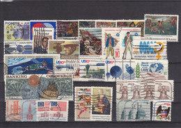 1975 - USA - O/FINE CANCELLED - UNIFORMS, 200 ANNIV., SPACE, XMAS... - Etats-Unis