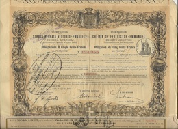 COMPAGNIE DES CHEMINS DE FER VICTOR - EMMANUEL - ITALIE 1907 - Chemin De Fer & Tramway