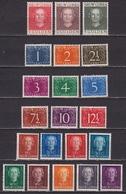 1950-52 NNG Koningin Juliana / Cijfer Ongestempelde Complete Serie NVPH 1 / 21 - Nouvelle Guinée Néerlandaise