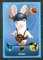 IM106 : Carrefour Panini Lapins Crétins Carte N°6 Viking - Trading Cards