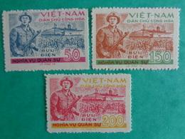 VIETNAM DU NORD SERVICE 1958 : Y &T N° 7 à 9  ** - GARDE TERRITORIALE - Vietnam