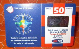 TIM £ 50.000 TIM PER IL GIUBILEO   2001 RICARICA SCHEDA TELEFONICA GSM USED - Schede GSM, Prepagate & Ricariche