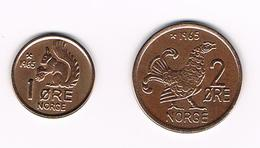 =&   NOORWEGEN  1 + 2   ORE 1965 - Norvège