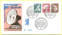 GERMANIA - GERMANY - Deutschland - ALLEMAGNE - Berlin - 1975 - 40 + 50 + 100 Industrie Und Technik - FDC - Berlin - [5] Berlino