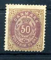 1875-1904 DANIMARCA 50o. * 14x13½ - Ungebraucht