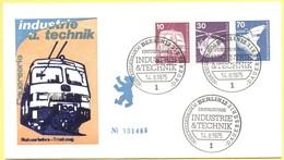 GERMANIA - GERMANY - Deutschland - ALLEMAGNE - Berlin - 1975 - 10 + 30 + 70 Industrie Und Technik - FDC - Berlin - [5] Berlino