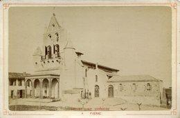 PHOTO DE CABINET 1885 PIBRAC EGLISE STE GERMAINE PHOTOGRAPHES NEURDIN HAUTE GARONNE CARTES POSTALES - Old (before 1900)