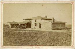 PHOTO DE CABINET 1885 PIBRAC MAISON STE GERMAINE ATTELAGE PHOTOGRAPHES NEURDIN HAUTE GARONNE CARTES POSTALES - Old (before 1900)