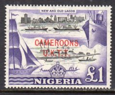 Cameroon 1960 UK Trust Territory Overprint On Nigeria, £1 Value, MNH, SG T12 - Cameroon (1960-...)