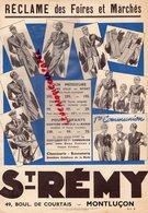 03- MONTLUCON - PUBLICITE VETEMENTS SAINT REMY -21 RUE NATIONALE CHEMISERIE BONNETERIE - Textile & Vestimentaire