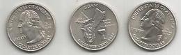 Stati Uniti, 2009 Guam, Quarter Dollar, Zecche D E P, 2 Pezzi Fior Di Conio. - Emissioni Federali
