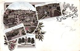 Luxemburg, Farb-Litho, 1895 Nach Mannheim Versandt - Luxemburgo - Ciudad