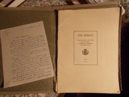 """RARE """"PAS PERDUS"""" Croquis Et Gravures De PAZZI Avec Lettre De Monsieur Le Bâtonnier Louis REYNAUD Du 16/02/1933 - Rhône-Alpes"""