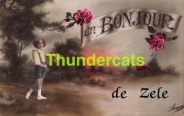 CPA UN BONJOUR DE ZELE - Zele