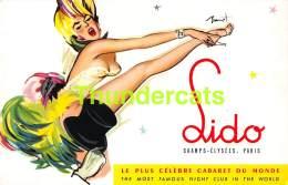 CPSM LIDO CHAMPS ELYSEES PARIS LE PLUS CELEBRE CABARET CABARET RESTAURANT ILLUSTRATEUR BRUNOT - Pin-Ups