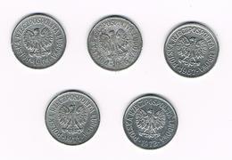 =&  POLEN  5 X 10  GROSZY  1965/66/67/71/72 - Pologne