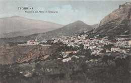 TAORMINA SICILY ITALY~PANORAMA Con L'ETNA In LONTANANZA 1906 PUBLISHED PHOTO POSTCARD 33879 - Altre Città
