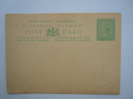 Mauritius Maurice Stationary Post Card Entier Postal Six Cents Mint Back Damaged - Mauritius (...-1967)
