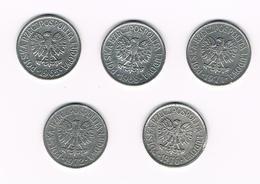 =&  POLEN  5 X 20  GROSZY  1965/68/71/72/76 - Polen