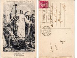 PONTMAIN - Allégorie De L' Apparition : 17 Janvier 1871 - Belle Flamme De Paris 80    (109868) - Pontmain