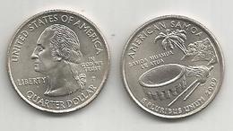 Stati Uniti, 2009, American Samoa, Quarter Dollar, Zecche D E P, 2 Pezzi Fior Di Conio. - Emissioni Federali