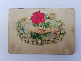 CP Illustrée Mariage/noces/union/rose Rouge - 1895 - Noces