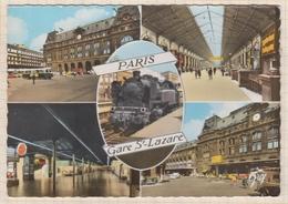 8AK2710 PARIS GARE SAINT LAZARE MULTI VUES 2 SCANS - Métro Parisien, Gares