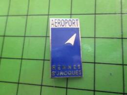 1318a Pin's Pins / Rare Et De Belle Qualité / AVION AVIATION : AEROPORT BRETAGNE RENNES ST JACQUES Sans Coquille ? - Airplanes