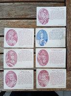 """7 CP's Amidon Rémy Ducs/Comtes Et Empereurs """"Henri II, III & IV, Godefroid II, III & Le Barbu, Ferdinand III"""" - Histoire"""