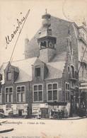BLANKENBERGE / HET OUDE STADHUIS / ANIMATIE IJSVERKOOP  1908 - Blankenberge