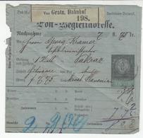 Austria Post-Begleitadresse Postal Stationery 1880 Gratz To Pakrac B180910 - Briefe U. Dokumente