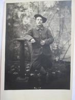 Carte-Photo Chasseur Alpin  N° 43 Ou 45 Sur Col - Guerre 1914-18 -  TBE - Regiments