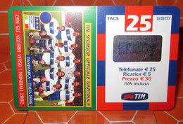 TIM € 25 SPONSOR UFFICIALE NAZIONALE   2004 RICARICA SCHEDA TELEFONICA GSM USED - Schede GSM, Prepagate & Ricariche