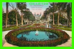MONTE-CARLO, MONACO - CASINO ET JARDINS - ANIMÉE - EDITION GILETTA - ÉCRITE EN 1925 - - Monte-Carlo