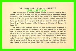 RELIGIONS - LE CAPPELLETTE DI S. IGNAZIO - E. CALZONE - - Saints