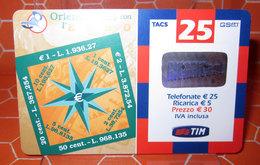 TIM € 25 ORIENTIAMOCI CON  2003 RICARICA SCHEDA TELEFONICA GSM USED - Schede GSM, Prepagate & Ricariche