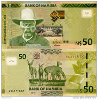 NAMIBIA       50 Dollars       P-13b       2016       UNC - Namibia