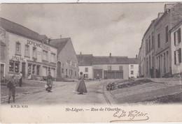 ST-LEGER-RUE DE L'OURTHE-CARTE PRECURSEUR ANIMEE-ENVOYEE VERS ALOST-1903-TOP-CARTE-VOYEZ LES 2 SCANS ! ! ! - Saint-Léger