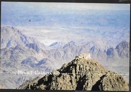 EGITTO - MOUNT CATHERINE -FORMATO GRANDE 17X12 -VIAGGIATA 2000 FRANCOBOLLO ASPORTATO - Egitto
