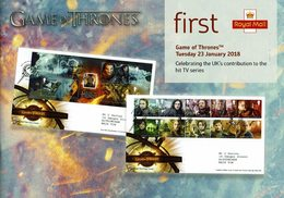 ROYAL MAIL COMMUNICATION STAMPS TIMBRES GAME OF THRONES TV SERIES - Cinema