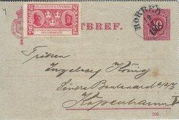 Sweden - Kortbref - Stationery.  Sent To Denmark 1905   S-4334 - Postal Stationery