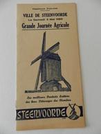 Steenvoorde (59) - Programme  De La Grande Journée Agricole Du Samedi 3 Mai 1958 - Programmes
