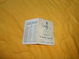 PETIT CALENDRIER ANCIEN DE 1954. / LE RALLYE SPORTS LE GRAND MAGASIN SPECIALISE EN SPORT ET CAMPING MONTLUCON. - Calendars