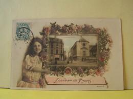 "TROYES (AUBE) CARTE FANTAISIE. SOUVENIR DE TROYES.   100_6061""b"" - Troyes"